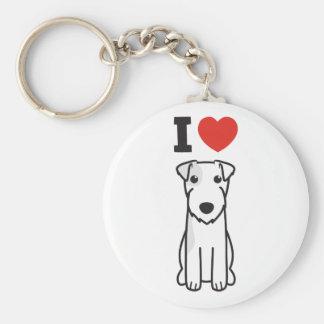 Dibujo animado del perro de Russell Terrier del pá Llaveros Personalizados