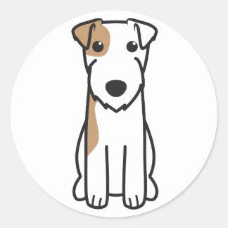 Dibujo animado del perro de Russell Terrier del Pegatinas Redondas