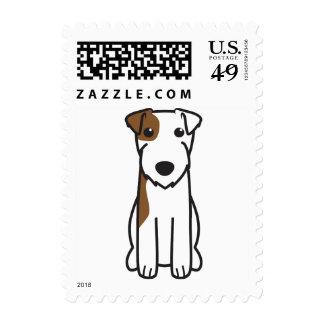 Dibujo animado del perro de Russell Terrier del Franqueo