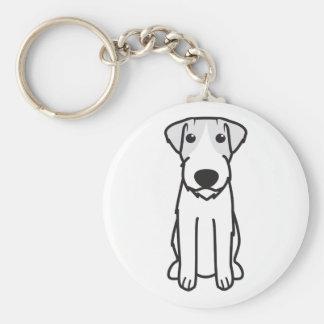 Dibujo animado del perro de Russell Terrier Llavero Personalizado