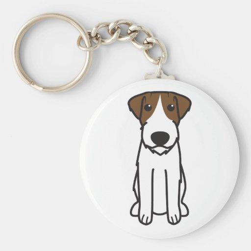 Dibujo animado del perro de Russell Terrier Llaveros
