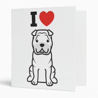 """Dibujo animado del perro de Shar-Pei del chino Carpeta 1"""""""
