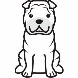 Dibujo animado del perro de Shar-Pei del chino Escultura Fotográfica