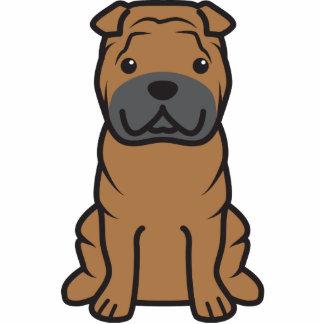 Dibujo animado del perro de Shar-Pei del chino Esculturas Fotográficas