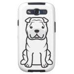 Dibujo animado del perro de Shar-Pei del chino Galaxy S3 Carcasas