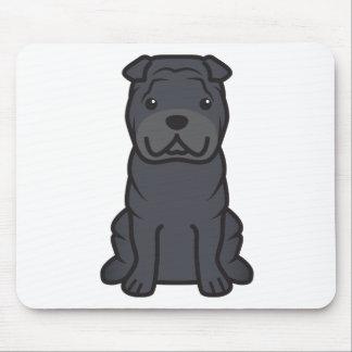 Dibujo animado del perro de Shar-Pei del chino Mousepads