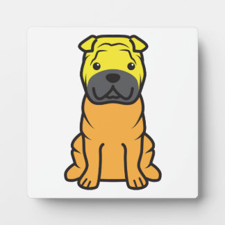 Dibujo animado del perro de Shar-Pei del chino Placa