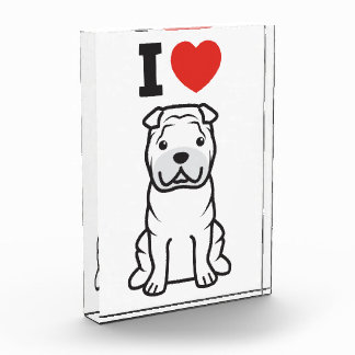 Dibujo animado del perro de Shar-Pei del chino
