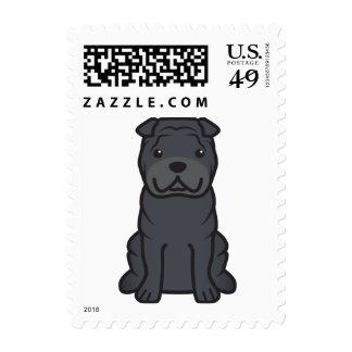 Dibujo animado del perro de Shar-Pei del chino Franqueo