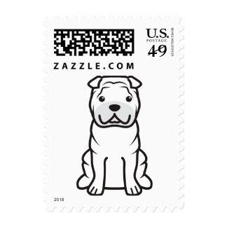 Dibujo animado del perro de Shar-Pei del chino Envio