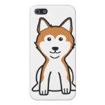 Dibujo animado del perro de Shiba Inu iPhone 5 Protector