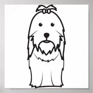 Dibujo animado del perro de Shih Tzu Impresiones