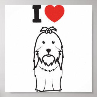 Dibujo animado del perro de Shih Tzu Posters