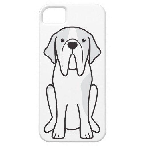Dibujo animado del perro de St Bernard iPhone 5 Protector