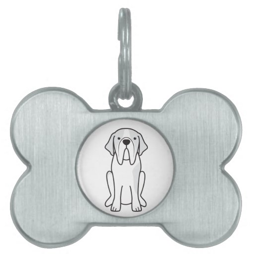 Dibujo animado del perro de St Bernard Placa De Nombre De Mascota