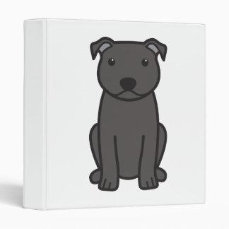 Dibujo animado del perro de Staffordshire bull ter