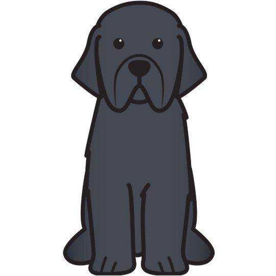 Dibujo animado del perro de Terranova Fotoescultura Vertical