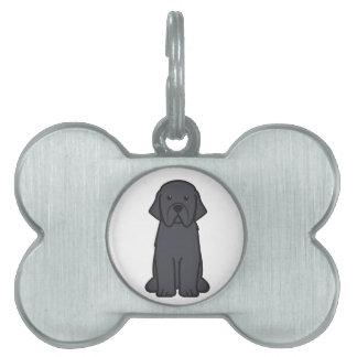 Dibujo animado del perro de Terranova Placa Mascota