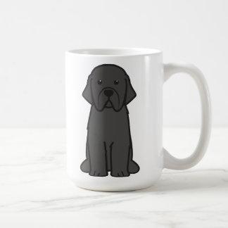 Dibujo animado del perro de Terranova Taza Básica Blanca
