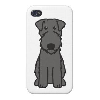 Dibujo animado del perro de Terrier de azul de Ker iPhone 4 Cárcasa