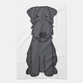 Dibujo animado del perro de Terrier de azul de Ker Toalla De Mano