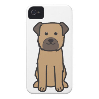 Dibujo animado del perro de Terrier de frontera iPhone 4 Case-Mate Cobertura