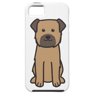 Dibujo animado del perro de Terrier de frontera iPhone 5 Case-Mate Protectores