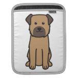 Dibujo animado del perro de Terrier de frontera Fundas Para iPads