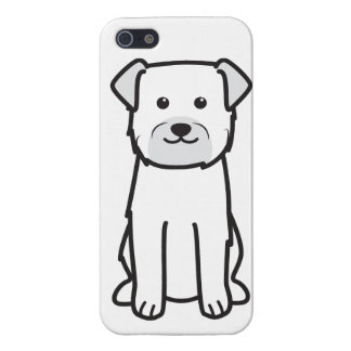 Dibujo animado del perro de Terrier de frontera iPhone 5 Protector