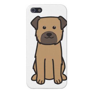 Dibujo animado del perro de Terrier de frontera iPhone 5 Funda