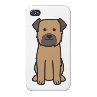 Dibujo animado del perro de Terrier de frontera iPhone 4/4S Fundas