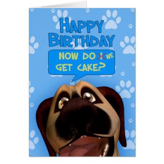 Dibujo animado del perro de Terrier de frontera Tarjeta De Felicitación