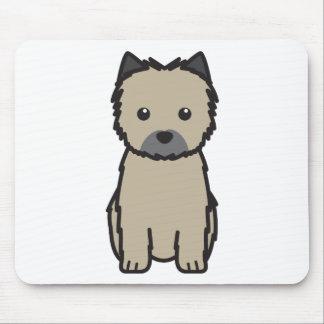 Dibujo animado del perro de Terrier de mojón Tapete De Ratón