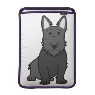 Dibujo animado del perro de Terrier del escocés Funda Macbook Air