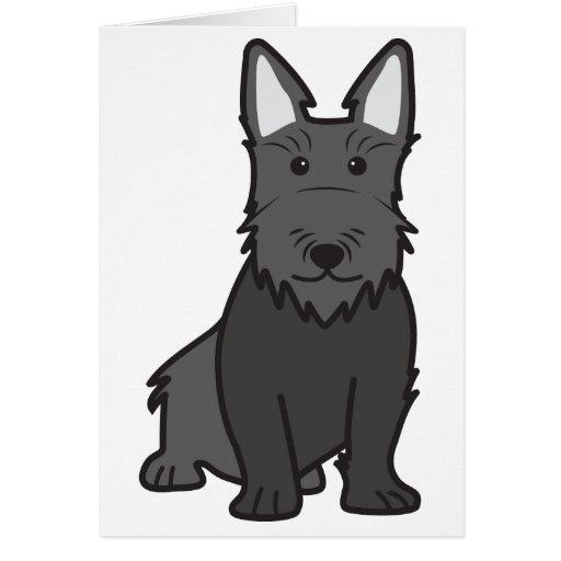 Dibujo animado del perro de Terrier del escocés Tarjetón
