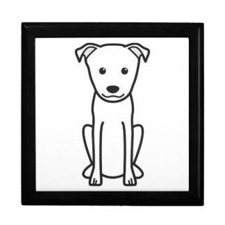 Dibujo animado del perro de Terrier del japonés Cajas De Regalo