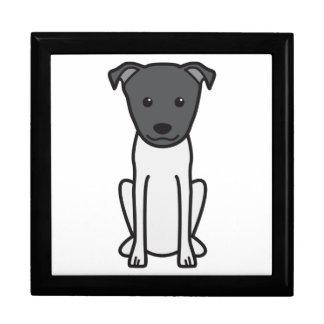 Dibujo animado del perro de Terrier del japonés Caja De Recuerdo