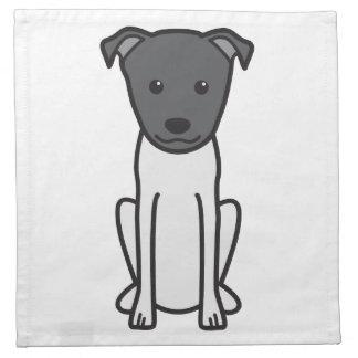 Dibujo animado del perro de Terrier del japonés Servilletas Imprimidas