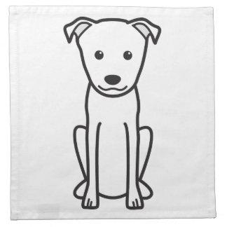 Dibujo animado del perro de Terrier del japonés Servilleta De Papel
