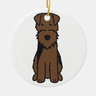 Dibujo animado del perro de Terrier galés Adorno De Navidad