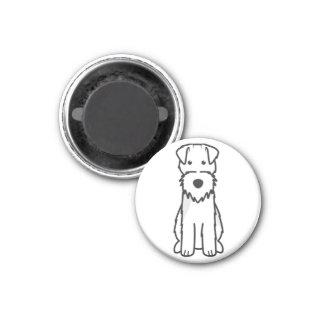 Dibujo animado del perro de Terrier galés Imán Redondo 3 Cm
