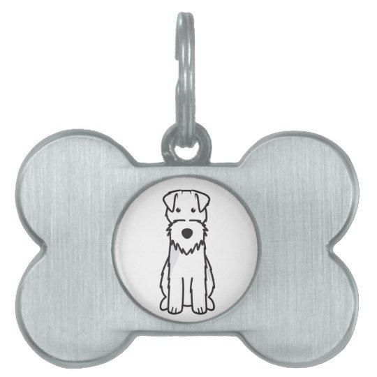 Dibujo animado del perro de Terrier galés Placa Mascota
