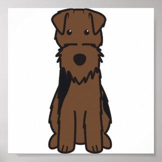 Dibujo animado del perro de Terrier galés Póster