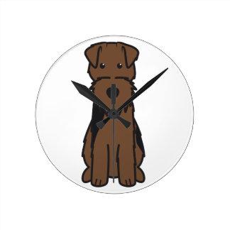 Dibujo animado del perro de Terrier galés Reloj De Pared