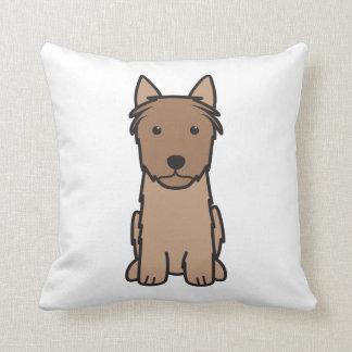 Dibujo animado del perro de Terrier sedoso Cojín Decorativo