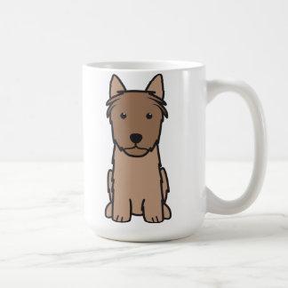 Dibujo animado del perro de Terrier sedoso Tazas