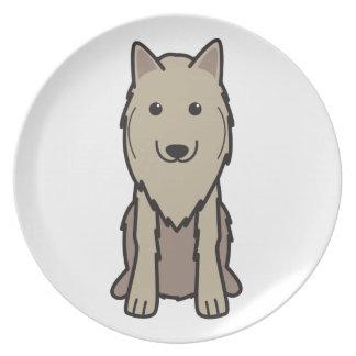 Dibujo animado del perro de Tervuren del belga Plato De Cena
