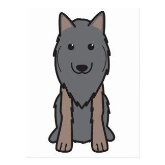 Dibujo animado del perro de Tervuren del belga Postales