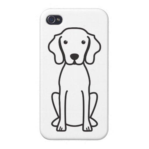 Dibujo animado del perro de Vizsla iPhone 4 Funda