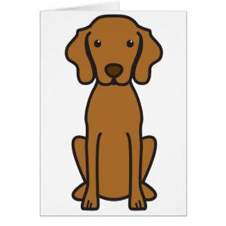 Dibujo animado del perro de Vizsla Tarjetas